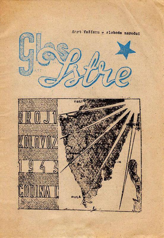 Prvi broj Glasa Istre, 18.8.1943, foto: Wikimedia Commons