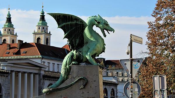 Zmajev most u Ljubljani, foto: protopopica/Wikimedia Commons