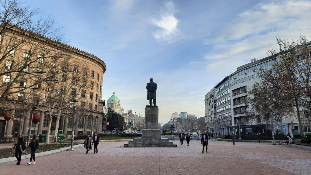 Trg Nikole Pašića u Beogradu, foto: Peščanik
