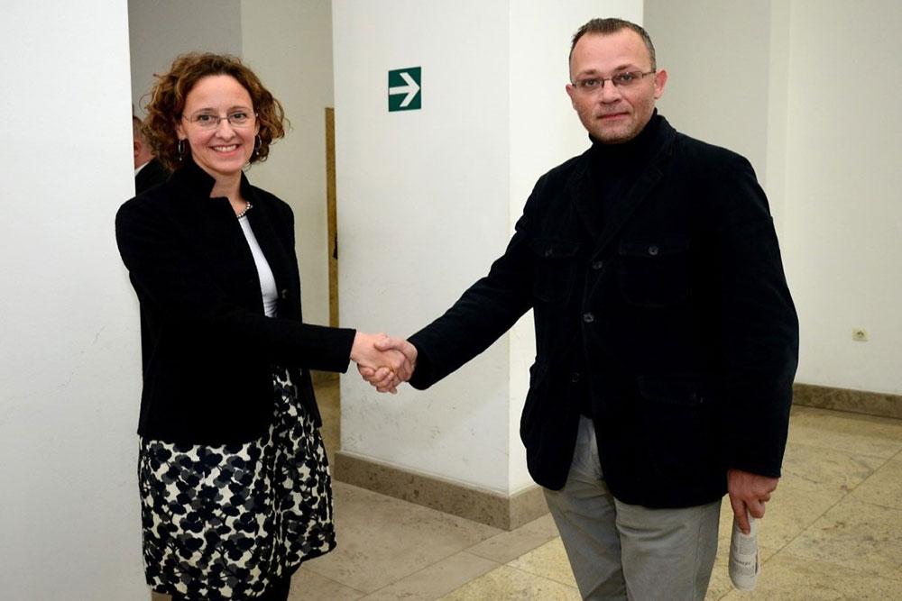Nina Obuljen Koržinek i Zlatko Hasanbegović, foto: Marko Prpić/PIXSELL
