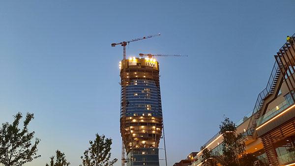 Jedna od kula Beograda na vodi u izgradnji
