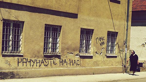 Natpis na zidu: Računjate na nas!