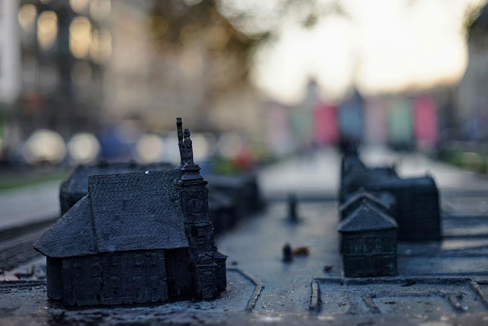 maketa kuća i hrama