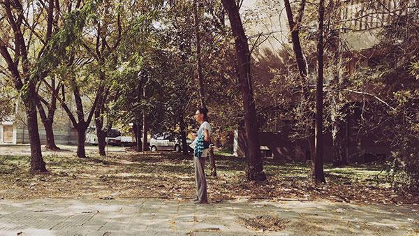 žena u parku