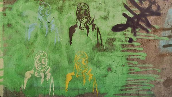 Stensili: ljudi pod maskama