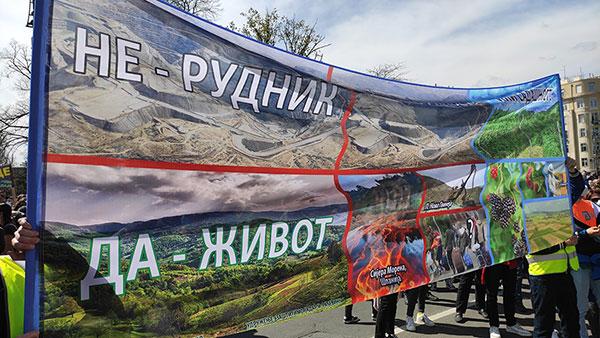 Ekološki ustanak u Beogradu, 10. april 2021, foto: Peščanik