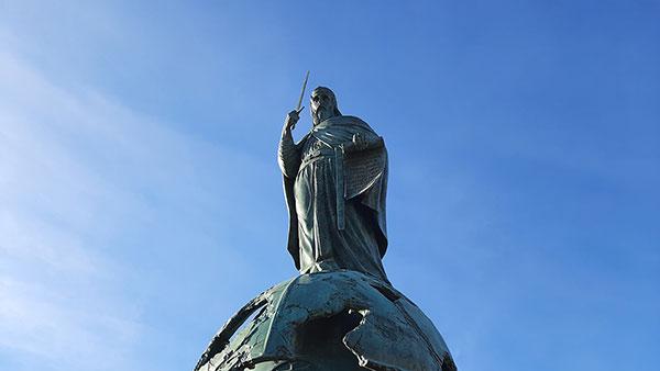 Spomenik Stefanu Nemanji na Savskom trgu, foto: Peščanik