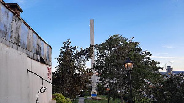 Obelisk nesvrstanih zemalja kod Brankovog mosta u Beogradu, 1961.
