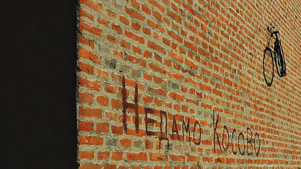 Natpis na zidu: Nedamo Kosovo